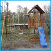 Различные детские игровые площадки со склада.