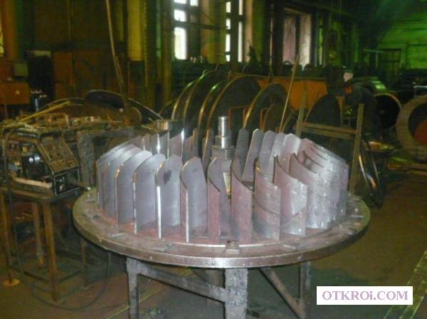 Изготовим рабочие колёса для дымососов и вентиляторов.