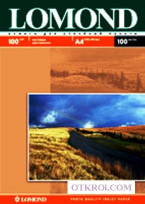Матовая фотобумага для струйной печати,  A4,  100 г/м2,  100 листов.