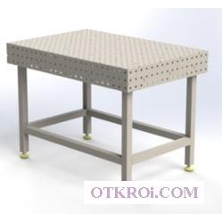 Сварочный слесарно-сборочный стол Evidence SS8-800x1200 3D ass (Эвиденс)  (полный комплект с собранной столешницей)