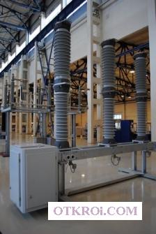 Выключатель элегазовый колонковый на 110 кВ.  (Аналогичен по габаритно-присоединительным размерам с ВМТ-110)