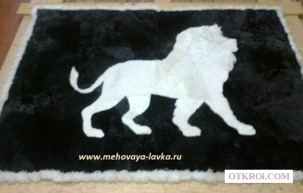 Пледы,   ковры,   покрывала из овечьих шкур