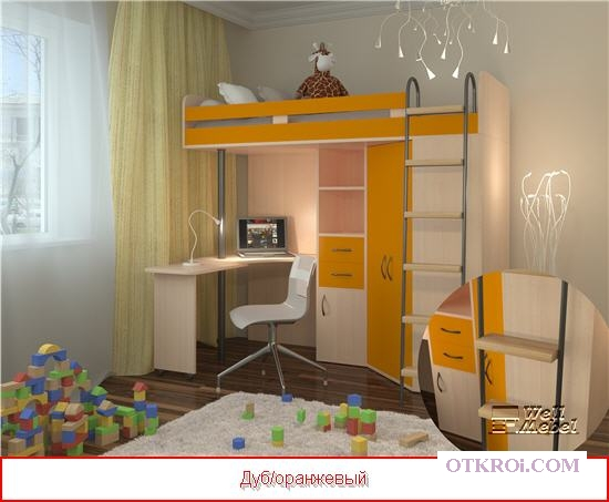 Кровать чердак м 85