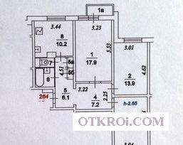3-к квартиру в районе с развитой инфраструктурой.