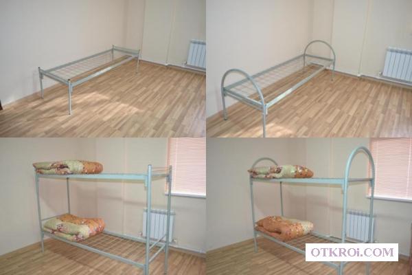 Кровати металлические для строительных бригад, общежитий
