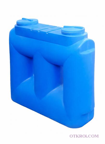 Пластиковая емкость на 2 куба.   Узкая.