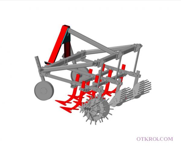 Культиватор-окучник универсальный КОН-2х0, 7 с регулируемым междурядьем с шириной захвата 1, 8 м.