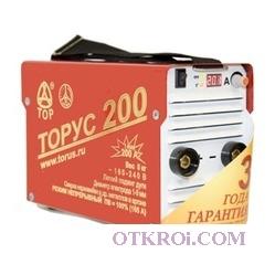 Сварочный инвертор ТОРУС-200 Классик + провода