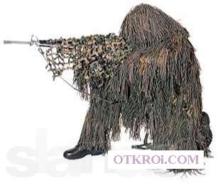 Маскировочные костюмы, сети, декоративные покрытия