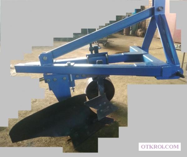 Плуг однокорпусный с захватом 35 см модели ПЛ-35х1 – мощный  и надежный.
