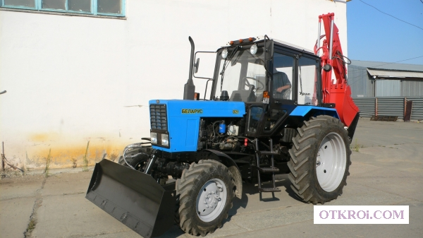 Экскаватор-бульдозер ЭО2621 на базе трактора Беларус-82 (мтз)