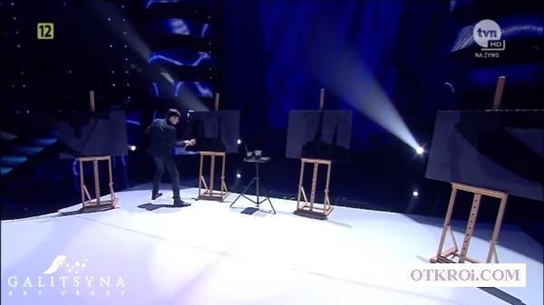 Шоу танцующий художник-составная картина в Ростове