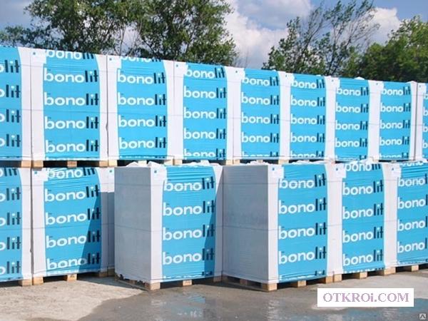 Блоки бонолит.    Блоки газосиликатные цена.