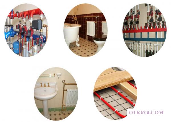 Установка отопления и водоснабжения в Рузе
