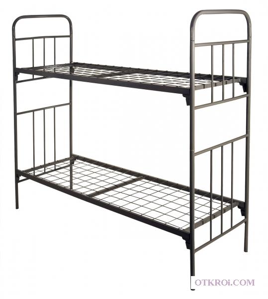 Металлические кровати для вагончиков, кровати для рабочих, кровати двухъярусные для строителей.