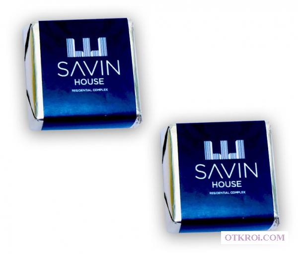 Сладкие новогодние подарки - суфле с логотипом