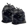 Большие мешки, пакеты черного цвета из полиэтилена. Производите