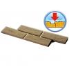 Фасадная плитка с перекрытием шва от ростовского производителя