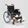 Кресло-коляска инвалидная, складная, с фиксированными подлокотниками и подножками, пневматические колеса