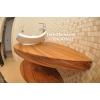 Тиковая столешница в ванной комнате, от Тик-Мастер