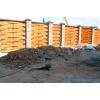 Строительство заборов с кирпичными столбами.